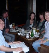 奈良ホテルのバーで打ち上げ